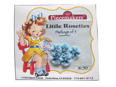 Little Rosettes by Piecemakers (5 per card) — C MAIN