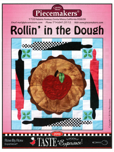 "Piecemakers 2019 Row by Row Fabric Kit – ""Rollin' in the Dough""   *SALE! MAIN"
