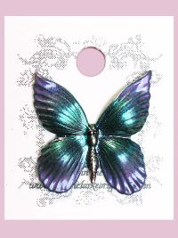 Susan Clarke - Purple and Green Butterfly Button THUMBNAIL