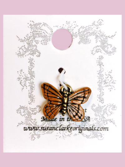 Susan Clarke - Small Orange Butterfly Charm MAIN