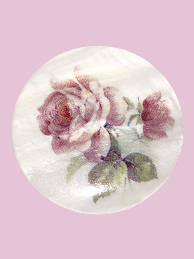 Susan Clarke - Mother of Pearl Rose Button MAIN