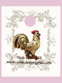 Susan Clarke - Rooster Button THUMBNAIL