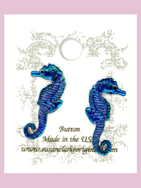 Susan Clarke - Teal Seahorse Buttons (2) THUMBNAIL
