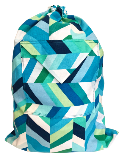 Schlepper Backpack – Blue, Green and White MAIN