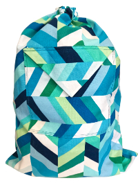 Schlepper Backpack – Blue, Green and White THUMBNAIL