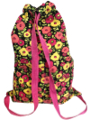 Schlepper Backpack – Pink and Yellow Flowers on Black SWATCH