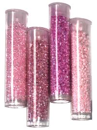 Seed Bead Tube Bundle – Pink THUMBNAIL