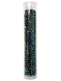Seed Bead Tube – Black Iridescent THUMBNAIL