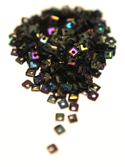 3mm Small Square Sequins - black iris MAIN