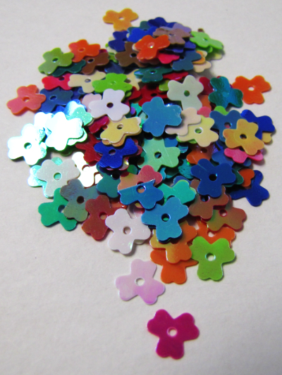 8mm Clover Flower Sequins — Mixed Colors MAIN
