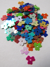 8mm Clover Flower Sequins — Mixed Colors THUMBNAIL