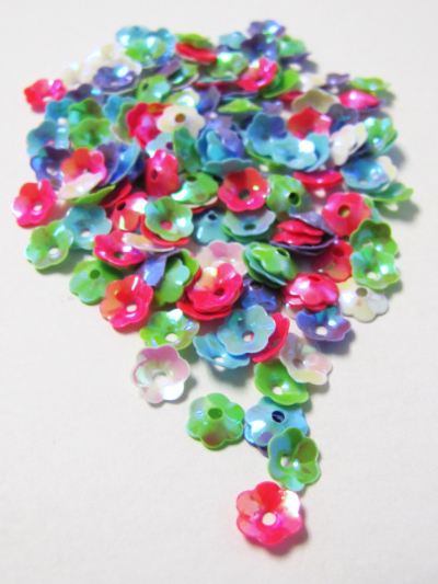 6mm Flower Sequins — Mixed Colors MAIN