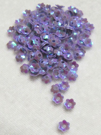 6mm Medium Flower Sequins — iridescent periwinkle THUMBNAIL