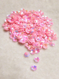 6mm Medium Flower Sequins — iridescent pink THUMBNAIL