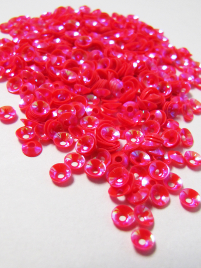 4mm Disc Sequins — Shocking Pink MAIN