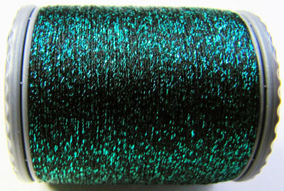 Sparkle Lamé - LM211 Emerald Green and Black MAIN