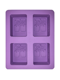 Soap Mold — Rectangles with Trees THUMBNAIL