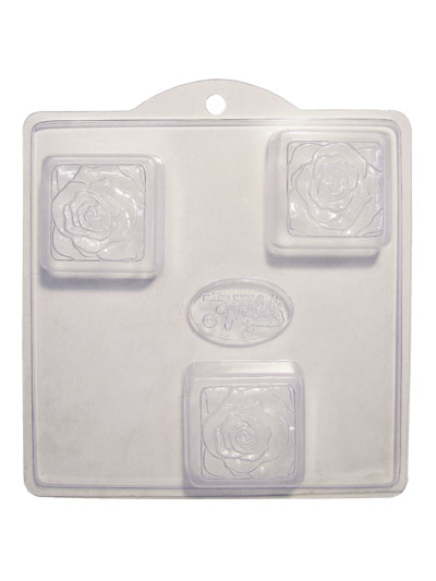 Soap Mold — Roses on Squares MAIN