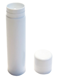 Lip Balm Stick Container — White THUMBNAIL