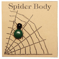 Dark Green Spider Body THUMBNAIL