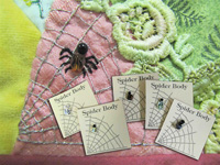 Beaded Spider Bodies for Embellishing, Crazy Patch and More