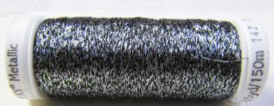 Sulky Thread - 7023 Silver and Black MAIN