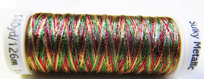 Sulky Thread - 7027 Variegated Red, Green and Gold MAIN