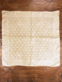 Vintage Bridge Tablecloth with Geometric Small Rectangle Pattern THUMBNAIL