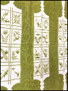 Vintage Tea Towels (Set of 2) – Avocado Green with Rolling Pin Design SWATCH