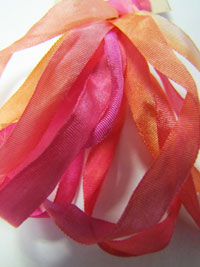 The Thread Gatherer Hand-dyed Silk Ribbon, 4mm — Poppies 032 THUMBNAIL