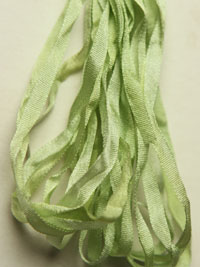 The Thread Gatherer Hand-dyed Silk Ribbon, 4mm — Spearmint 103 THUMBNAIL