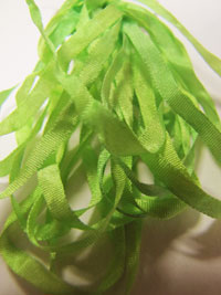 The Thread Gatherer Hand-dyed Silk Ribbon, 4mm — Sprite Grass 151 THUMBNAIL