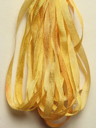 The Thread Gatherer Hand-dyed Silk Ribbon, 4mm — Sunflower Yellow 030 MAIN
