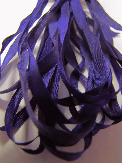 The Thread Gatherer Hand-dyed Silk Ribbon, 4mm — Vintage Violets 140 MAIN