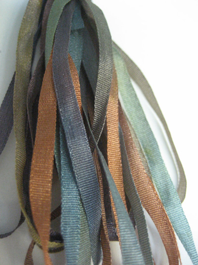 Thread Gatherer Hand-dyed Silk Ribbon, 4mm — Acorn Woods 164 MAIN
