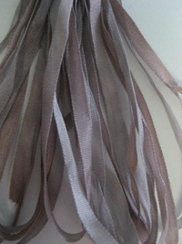 The Thread Gatherer Hand-dyed Silk Ribbon, 4mm — Antique Pewter 044 THUMBNAIL