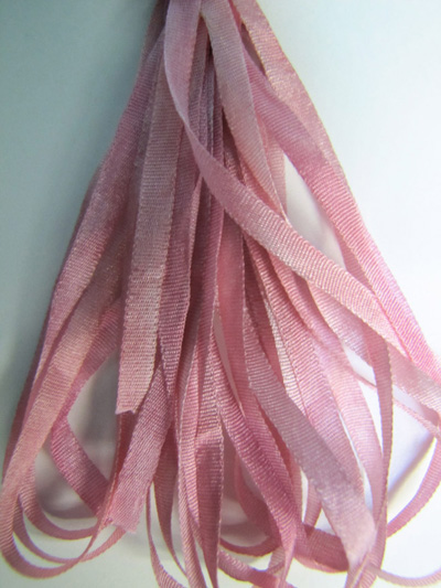 The Thread Gatherer Hand-dyed Silk Ribbon, 4mm — Antique Roses 064 MAIN