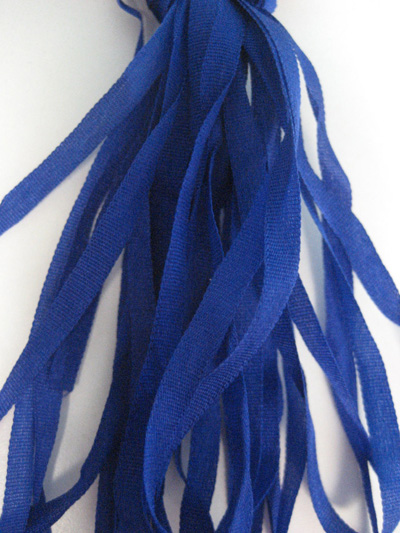 The Thread Gatherer Hand-dyed Silk Ribbon, 4mm — Blue Violet 036 MAIN
