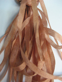 The Thread Gatherer Hand-dyed Silk Ribbon, 4mm — Copper Rose 130 THUMBNAIL