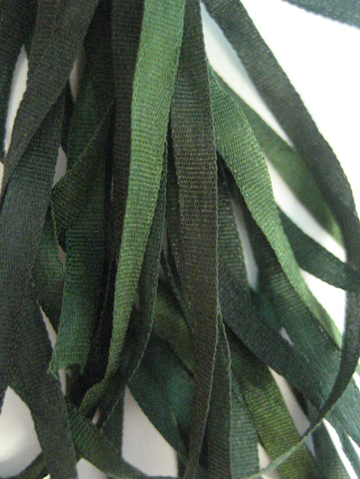 The Thread Gatherer Hand-dyed Silk Ribbon, 4mm — Dark Forest 089 MAIN