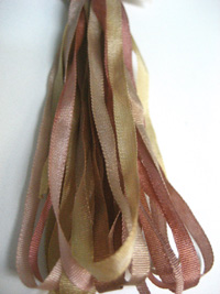 Thread Gatherer Hand-dyed Silk Ribbon, 4mm — Dried Roses 129 THUMBNAIL