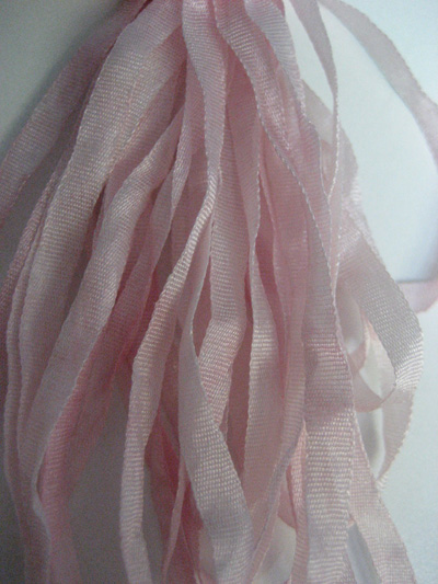 The Thread Gatherer Hand-dyed Silk Ribbon, 4mm — Fairy Rose 084 MAIN
