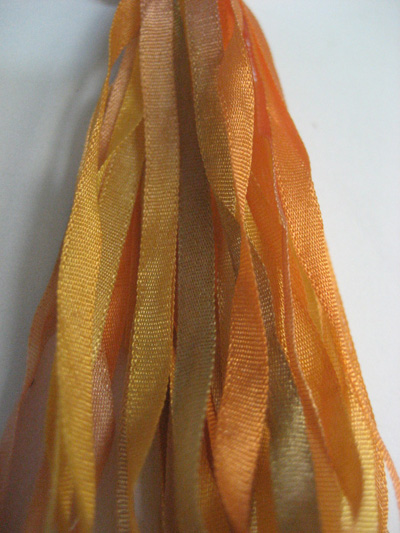 The Thread Gatherer Hand-dyed Silk Ribbon, 4mm — Indian Summer 153 MAIN