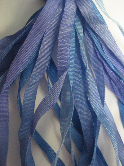 The Thread Gatherer Hand-dyed Silk Ribbon, 4mm — Lavender Blue 071 MAIN