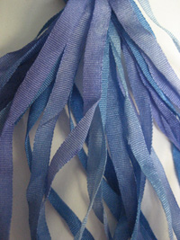 The Thread Gatherer Hand-dyed Silk Ribbon, 4mm — Lavender Blue 071 THUMBNAIL