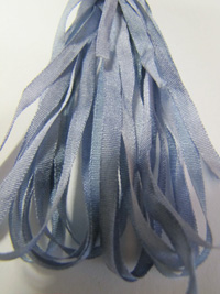 The Thread Gatherer Hand-dyed Silk Ribbon, 4mm — Periwinkle 022 THUMBNAIL