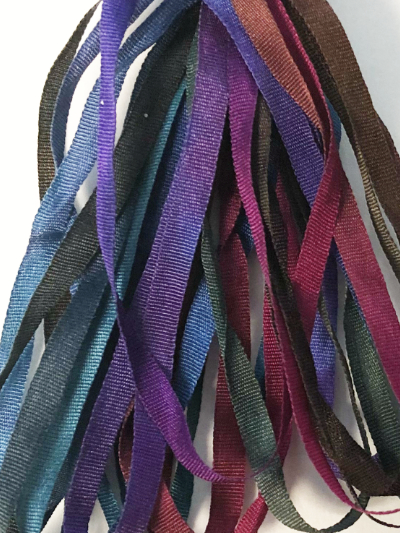 The Thread Gatherer Hand-dyed Silk Ribbon, 4mm — Royalty 001 MAIN
