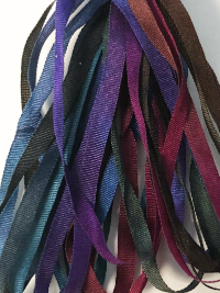 The Thread Gatherer Hand-dyed Silk Ribbon, 4mm — Royalty 001 THUMBNAIL