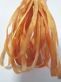 The Thread Gatherer Hand-dyed Silk Ribbon, 4mm — Soft Apricot 031 THUMBNAIL