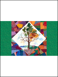 "QT Fabrics ""His Majesty - The Tree"" # 27558-X Multi - Center Medallion Panel (26"" x 43"") THUMBNAIL"